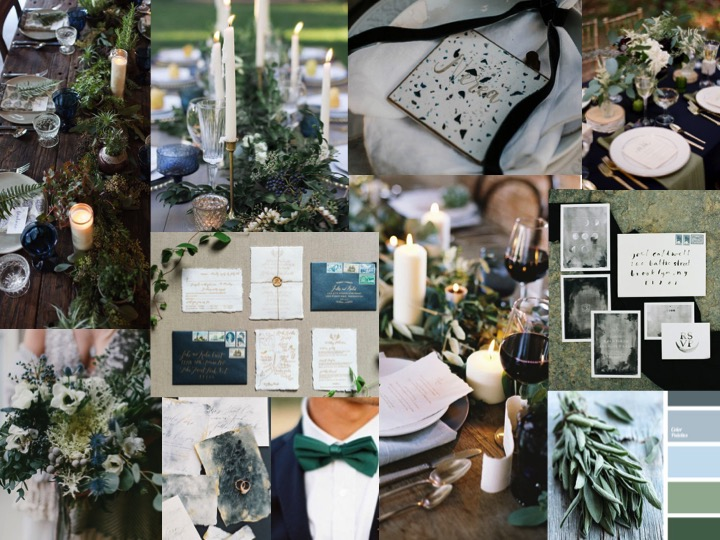 Green wedding decor that isn't too green