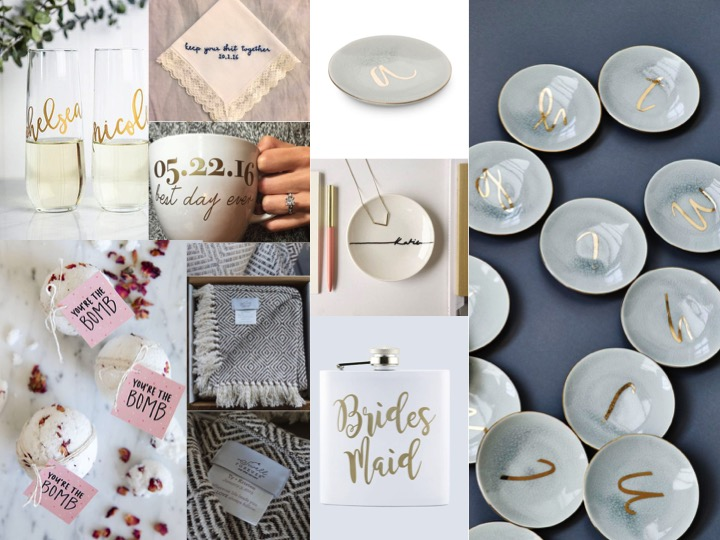 Bridesmaids Gifts. Ideas for something special to give your bridesmaids on your wedding day.