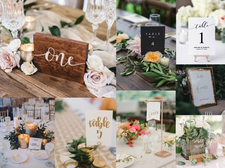 What's in a number? Ways to make your table numbers a little bit more fun!