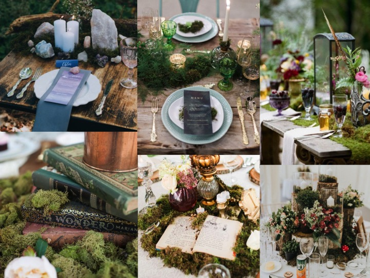 How to use moss in wedding decor
